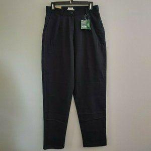 LL Bean Bayside Twill Pants Black High Waist